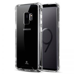 Crong Hybrid Protect Cover - Etui Samsung Galaxy S9 (przezroczysty)