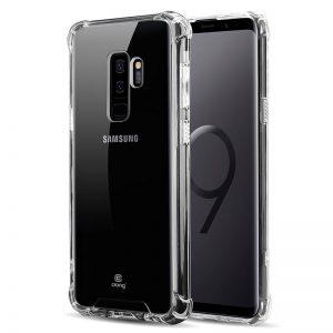 Crong Hybrid Protect Cover - Etui Samsung Galaxy S9+ (przezroczysty)