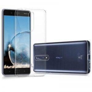 Crong Crystal Slim Cover - Etui Nokia 8 (przezroczysty)