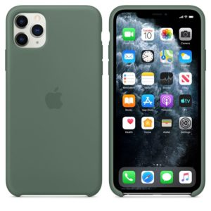 Apple Silicone Case - Silikonowe etui iPhone 11 Pro Max (sosnowe)