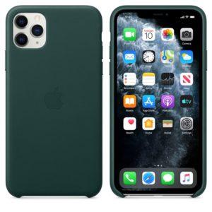 Apple Leather Case - Skórzane etui iPhone 11 Pro Max (leśna zieleń)
