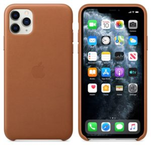 Apple Leather Case - Skórzane etui iPhone 11 Pro Max (naturalny brąz)