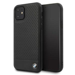 BMW Perforated Horizontal Smooth Leather - Etui iPhone 11 (czarny)