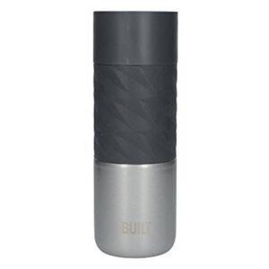 BUILT Hydration Stainless Steel Press Flask - Stalowy kubek termiczny 450 ml (Black/Steel)