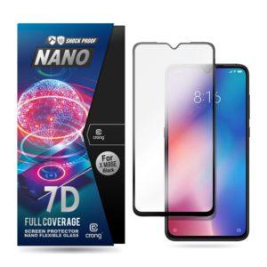 Crong 7D Nano Flexible Glass - Szkło hybrydowe 9H na cały ekran Xiaomi Mi 9 SE