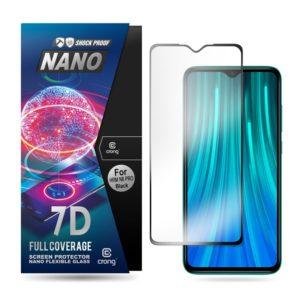 Crong 7D Nano Flexible Glass - Szkło hybrydowe 9H na cały ekran Xiaomi Redmi Note 8 Pro