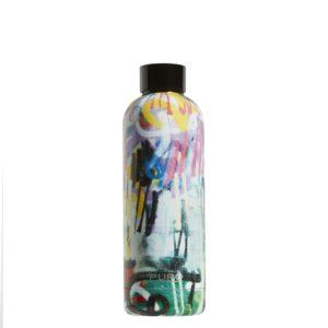 Puro Hot&Cold - Butelka termiczna ze stali nierdzewnej 500 ml (StreetArt - Graffiti Black)