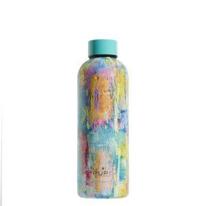Puro Hot&Cold - Butelka termiczna ze stali nierdzewnej 500 ml (StreetArt - Paint Light Blue)