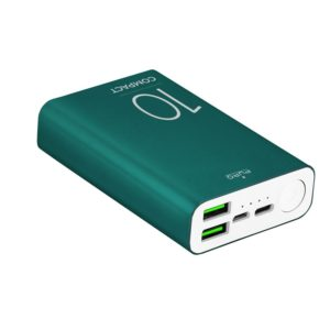 PURO Compact Power Bank - Power bank dla smartfonów i tabletów 10000 mAh 2 x USB-A