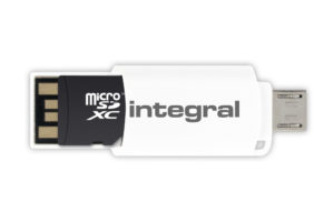 Integral USB 2.0 OTG (On-The-Go) microSDHC and microSDXC Card Reader - czytnik kart pamięci