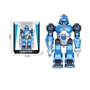 Robot walczący niebieski (26 cm)