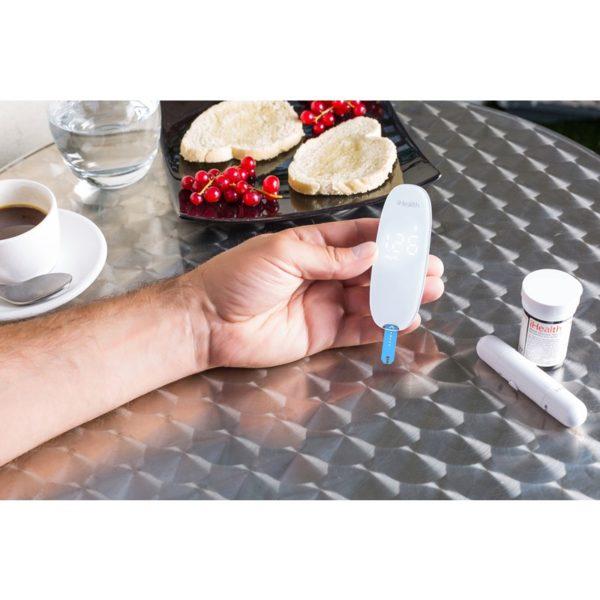 iHealth Gluco+ Smart Gluco-Monitoring - Elektroniczny glukometr bezprzewodowy iOS/Android (Bluetooth) ZESTAW