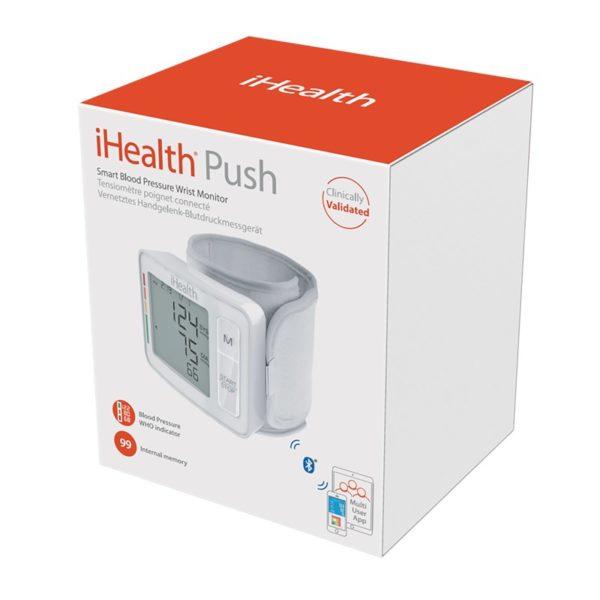 iHealth Push Smart Blood Pressure Monitor- Bezprzewodowy ciśnieniomierz nadgarstkowy z wyświetlaczem iOS/Android