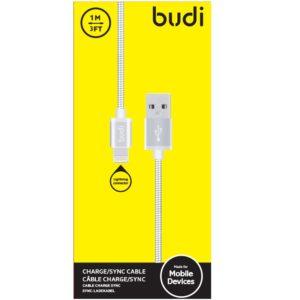 Budi - Kabel USB-A - Lightning w metalowej obudowie i oplocie
