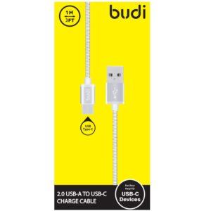 Budi - Kabel USB-A - USB-C w metalowej obudowie i oplocie