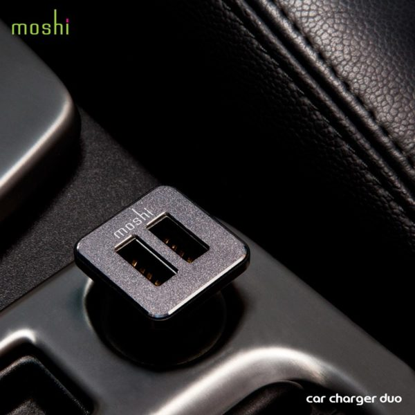 Moshi Car Charger Duo - Ładowarka samochodowa 2x USB (Black)