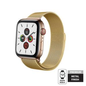 Crong Milano Steel - Pasek ze stali nierdzewnej Apple Watch 38/40 mm (złoty)