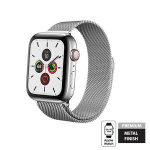 Crong Milano Steel - Pasek ze stali nierdzewnej Apple Watch 42/44 mm (srebrny)