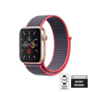 Crong Nylon Band - Pasek sportowy Apple Watch 38/40 mm (Electric Pink)