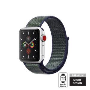 Crong Nylon Band - Pasek sportowy Apple Watch 38/40 mm (Midnight Fog)