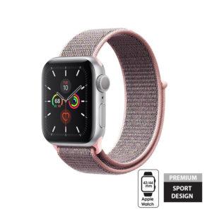 Crong Nylon Band - Pasek sportowy Apple Watch 42/44 mm (Light Pink)