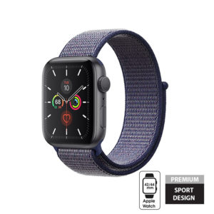 Crong Nylon Band - Pasek sportowy Apple Watch 42/44 mm (Midnight Blue)