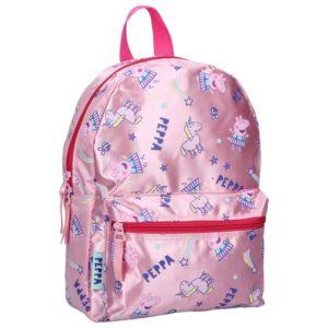 Peppa Pig - Plecak różowy błyszczący (32 x 23 x 12 cm)