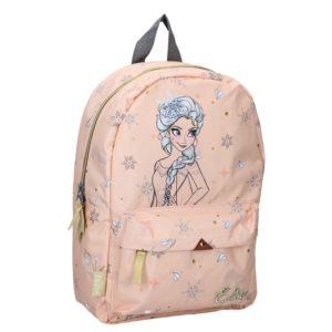Frozen - Plecak w kolorze brzoskwiniowym (36 x 25 x 14 cm)