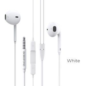 Borofone - słuchawki przewodowe z mikrofonem i pilotem Jack 3