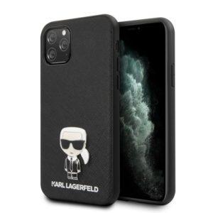 Karl Lagerfeld Saffiano with Pin Ikonik - Etui iPhone 11 Pro Max (black)