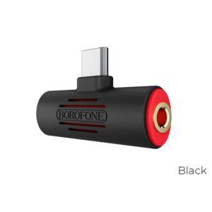 Borofone - adapter złącza USB-C na 1x USB-C 1x Audio Jack 3.5 mm