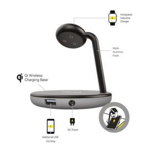 Kanex GoPower Watch Stand – Magnetyczna stacja ładująca do Apple Watch i ładowarka Qi do iPhone (czarny/szary)