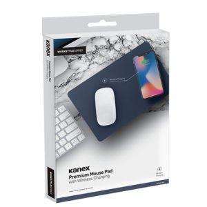 Kanex Premium Mouse Pad - Podkładka pod mysz z funkcją ładowania bezprzewodowego (Midnight Blue)