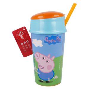 Peppa Pig - Kubek + miejsce na przekąski (400 ml)