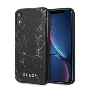 Guess Marble - Etui iPhone Xr (Black)