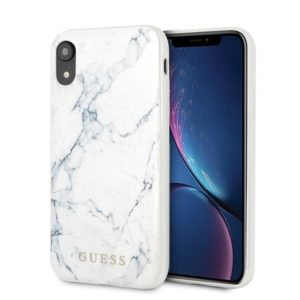 Guess Marble - Etui iPhone Xr (White)
