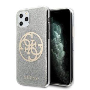 Guess Circle Glitter 4G - Etui iPhone 11 Pro (Light Grey)