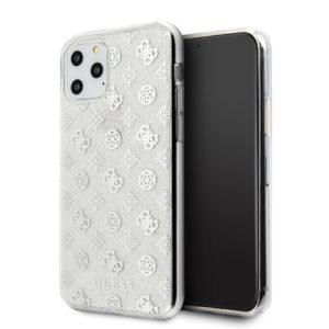 Guess 4G Peony Glitter - Etui iPhone 11 Pro (Srebrny)