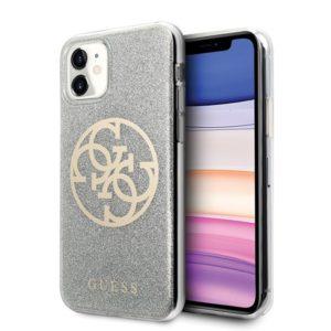 Guess Circle Glitter 4G - Etui iPhone 11 (Light Grey)