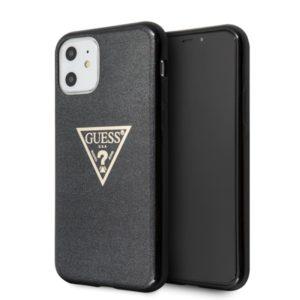 Guess Solid Glitter Triangle - Etui iPhone 11 (Black)