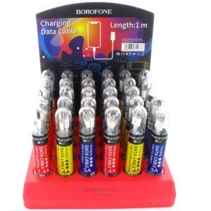 Borofone - zestaw kabli zapakowanych w tuby