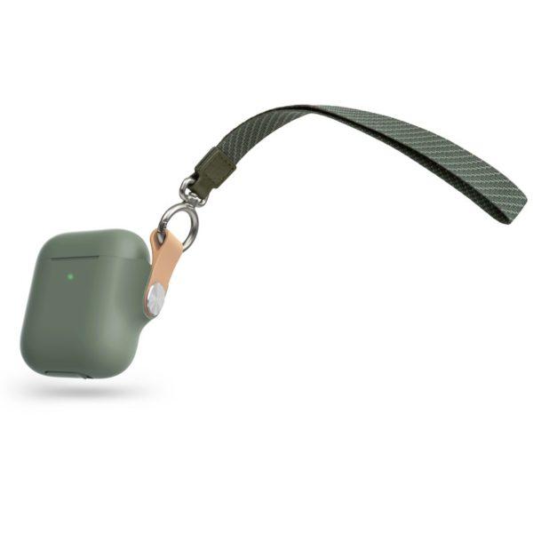Moshi Pebbo – Etui AirPods z odpinanym paskiem na rękę (Mint Green)