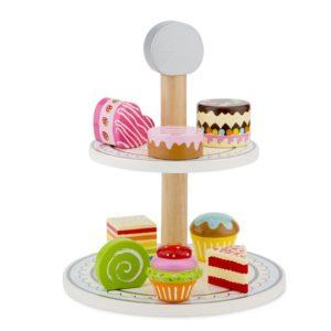 New Classic Toys - Drewniany stojak na ciasto z babeczkami