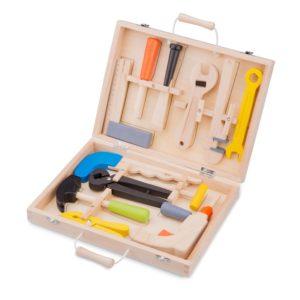 New Classic Toys - Drewniana skrzynka z narzędziami (12 elementów)