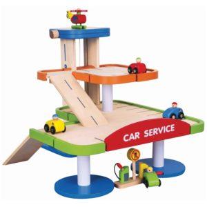 Viga Toys - Drewniany garaż