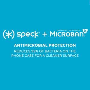 Speck Presidio Clear with Glitter - Etui iPhone 11 z powłoką MICROBAN (Rose Glitter/Clear)