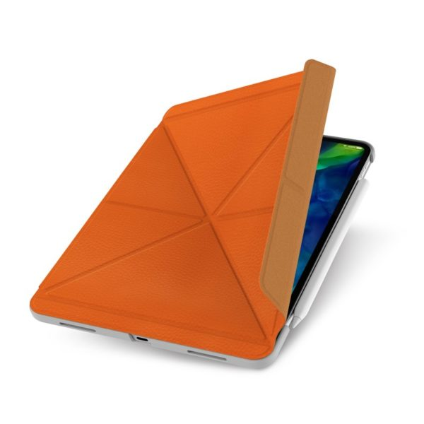 "Moshi VersaCover - Etui origami iPad Pro 11"" (2020/2018) z ładowaniem Apple Pencil (Sienna Orange)"