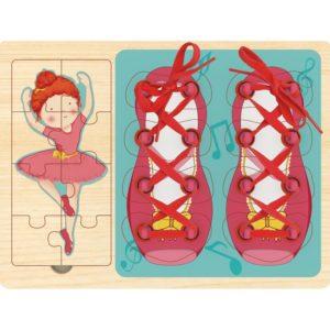 Top Bright - Sznurowanka puzzle 2w1 baletnica