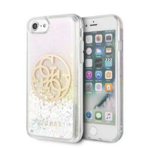 Guess Gradient Liquid Glitter Circle Logo - Etui iPhone SE 2020 / 8 / 7