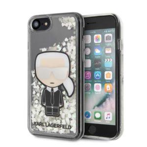 Karl Lagerfeld Glitter Glow in the dark Ikonik - Etui iPhone SE 2020 / 8 / 7